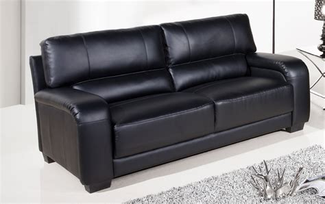 Black Leather Sofa For Sale by Sale Large 3 Seater Black Leather Sofa Sofas