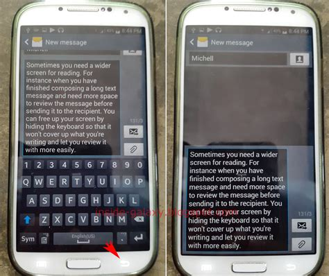 hide keyboard android samsung galaxy s4 how to hide or show keyboard in android 4 4 2 kitkat