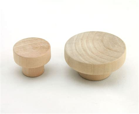 Wooden Knobs For Dresser by Wooden Unfinished Drawer Pulls Kitchen Cabinet Knobs Cupboard Flat K020 Ebay
