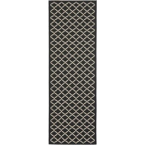 indoor outdoor rug runner safavieh courtyard black indoor outdoor rug runner 2 4 quot x 12 cy6919 226 212