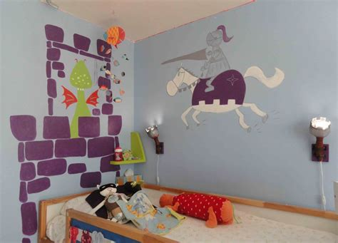 chambre enfant chevalier decoration chambre garcon chevalier