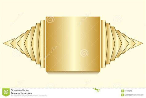 golden layout manager golden square text layout with decorative sidepieces stock