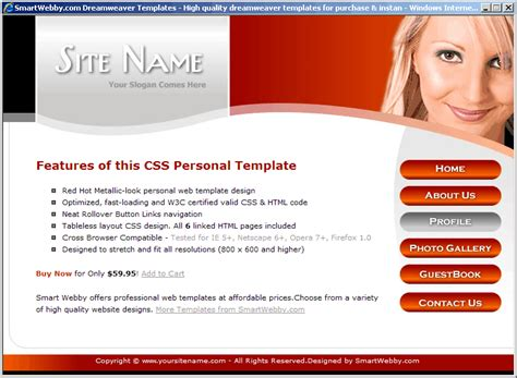 Personal Website Template Html Css Personal Website Templates Tristarhomecareinc