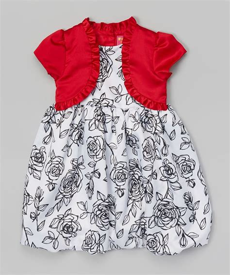 bench kids clothing park bench kids crimson white floral bolero dress
