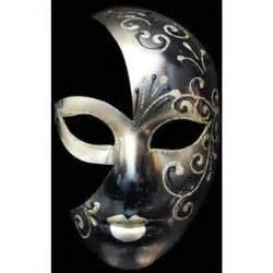 109 volto luna berta black gold venetian masquerade mask