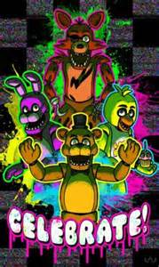 Download fnaf celebrate wallpapers to your cell phone bonnie chica