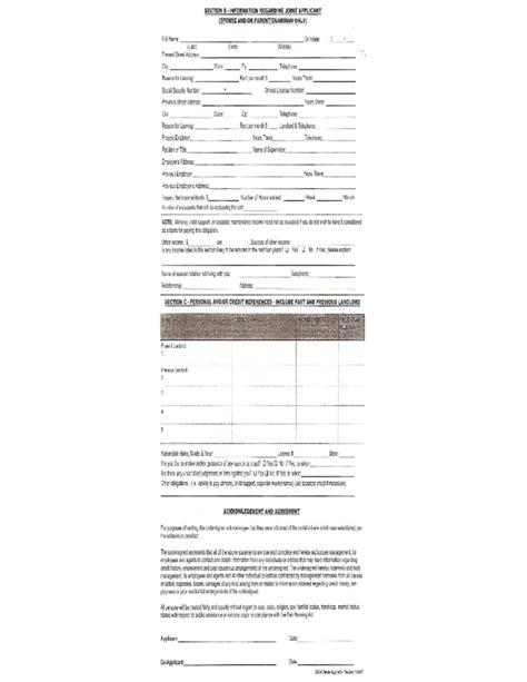 Renters Credit Form Wisconsin Dakota Tenant Rental Application Free