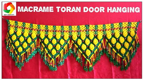 Ideas To Decorate Home For Diwali Beautiful Macrame Toran Hanging For Home Decoration 7