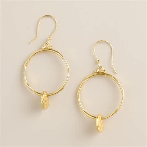 gold drop hoop earrings world market