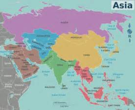 asia map with cities capital capitals asia material world