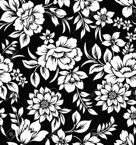 pattern design black black white flowers b w patterns pinterest white