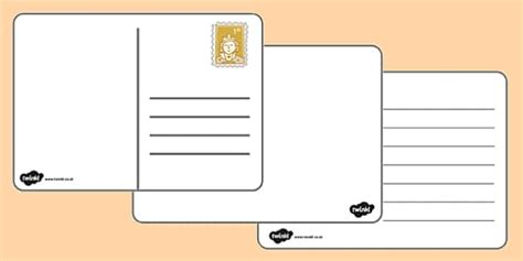 Blank Postcard Templates Postcard Writing Template Letter To Template Eyfs