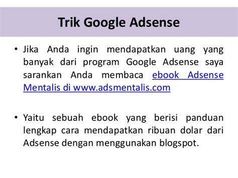 adsense mentalis tips google adsense indonesia