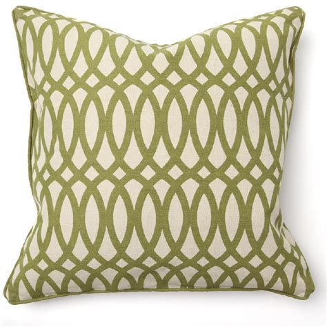 geo print green throw pillow by villa home collection