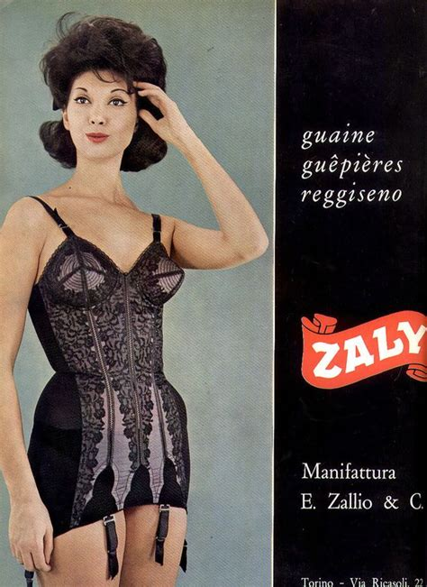 vintage bra commercials 60s italian lingerie ad onsie girdle bra all in one style