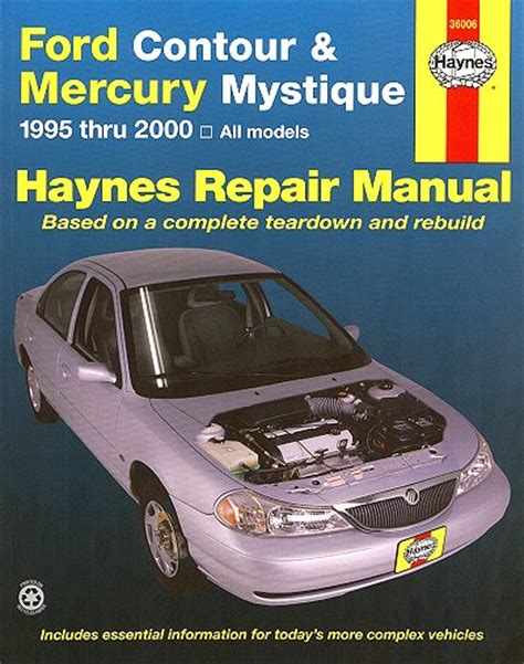 download car manuals 2000 mercury mystique spare parts catalogs ford contour mercury mystique repair manual 1995 2000 haynes