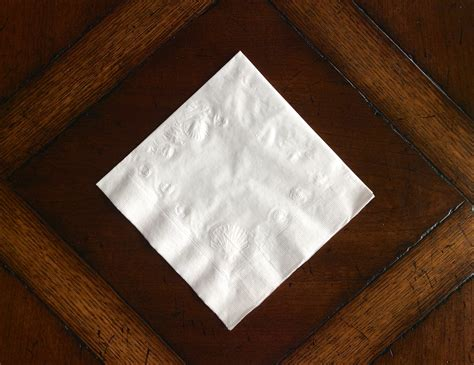Folded Paper Napkins - bird page zoe m mccarthy