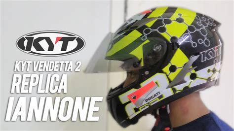 Obral Helm Kyt Vendetta 2 Andrea Iannone Review Kyt Vendetta 2 Replica Andrea Iannone