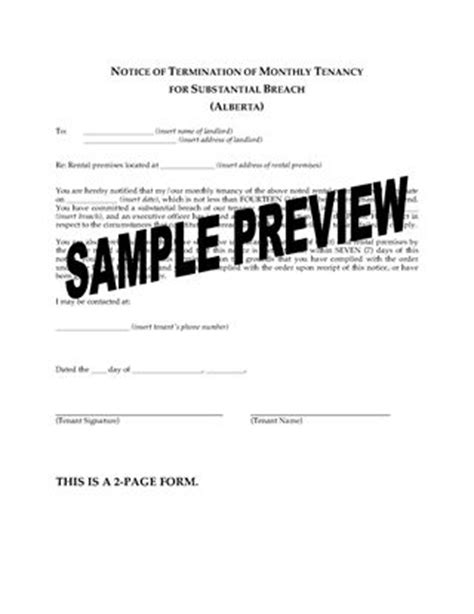 Lease Termination Form Alberta Alberta Landlord And Tenant Notice Forms Forms And Business Templates Megadox