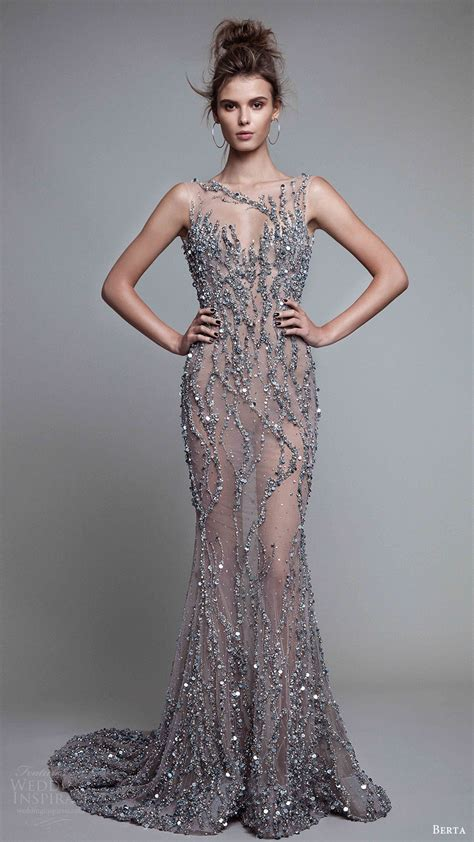 beaded evening gowns berta fall 2017 ready to wear collection wedding inspirasi