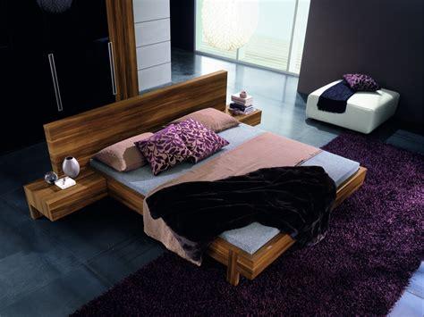marin modern platform bed  optional leather backrests