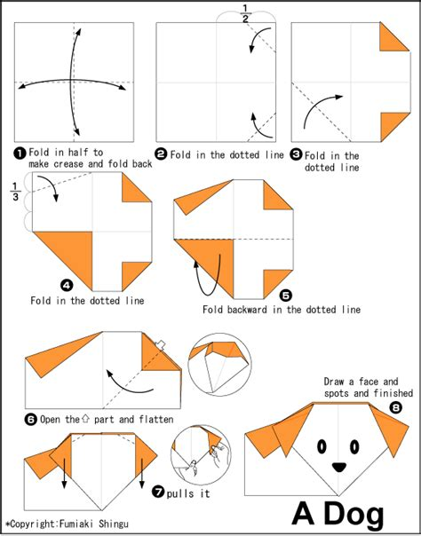 How To Make A Origami Puppy - origami a easy origami for