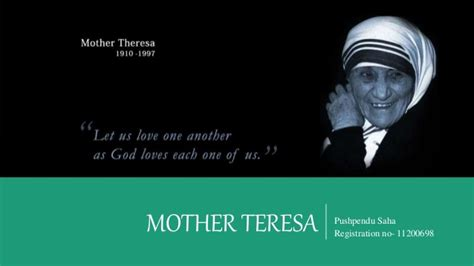 mother teresa biography powerpoint mother teresa leadership style