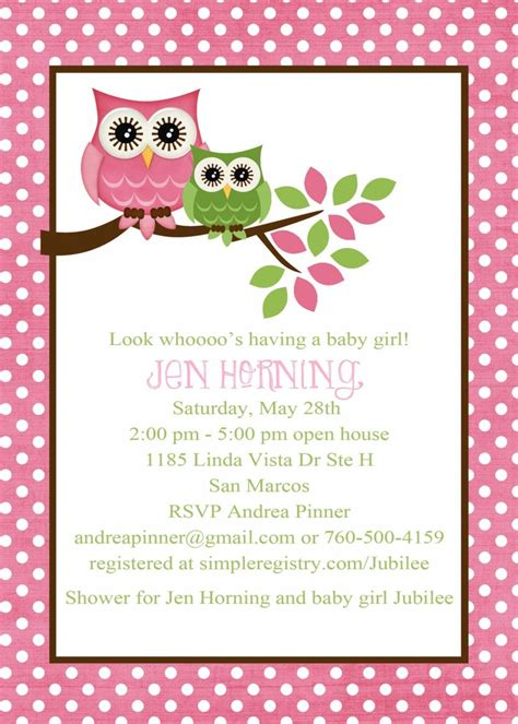 owl templates for baby shower owl baby shower invitation owl first birthday baby girl