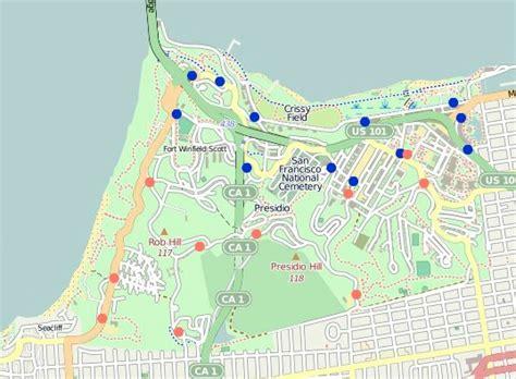 san francisco map presidio presidio san francisco map