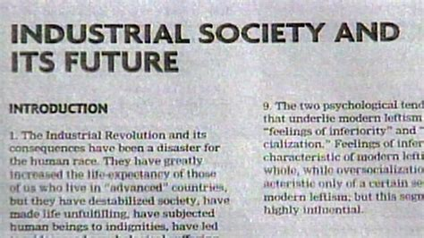 industrial society and its future books sept 19 1995 unabomber s thoughts published abc