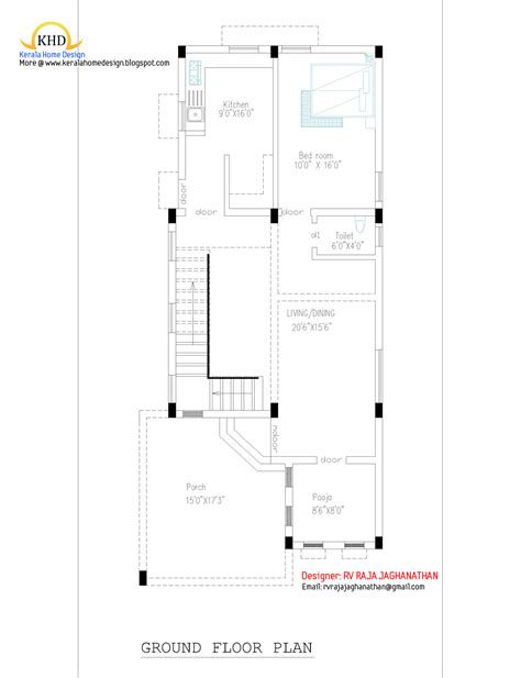 floor plan of house in india july 2011 kerala home design and floor plans