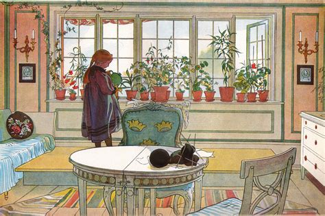 On The Windowsill Flowers On The Windowsill Carl Larsson Wikiart Org