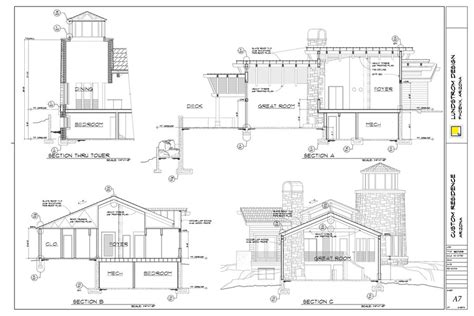 architectural drafting design service custom home plans stock plans lundstrom design custom home drawing 6