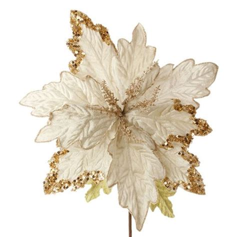 velvet white and gold poinsettia upc 048893651107