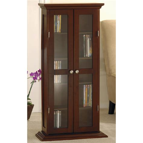 Media Storage Cabinet With Glass Doors Cd Dvd Cabinet With Glass Door Winsome Wood Media Storage Cabinets Cd Dvd Media