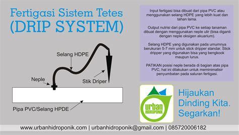 Fertigasi Hidroponik cara mengatur fertigasi sistem tetes