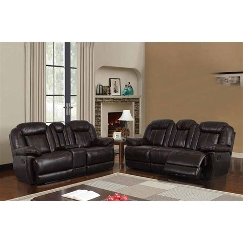 faux leather couch set global furniture usa 2 piece reclining faux leather sofa
