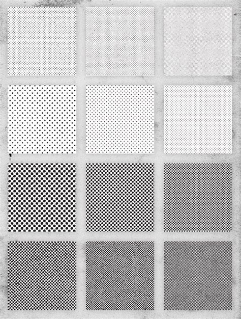 pattern textures illustrator free pack of 12 distressed halftone pattern textures
