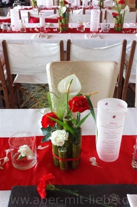 Hochzeitsdeko Weiß Rot by Tischgesteck Tischdeko Hochzeit Hochzeitsdeko Rot Wei 223