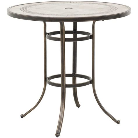 Tile Top Bistro Table Barnwood 42 Quot Tile Top Patio Bar Table T R42b T6 Barnwd World Source International Afw