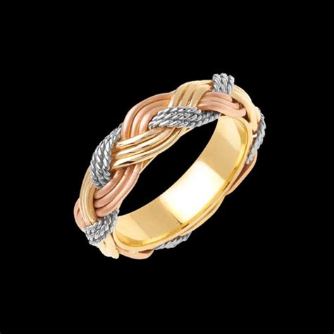 unique trio braided wedding band at gracious jewelry