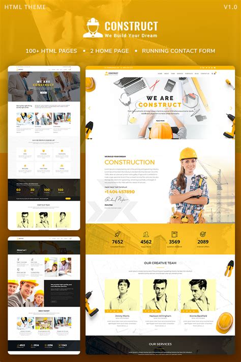 Demo For Construct Construction Building Maintenance Website Template 68878 Best Template Based Website Builder
