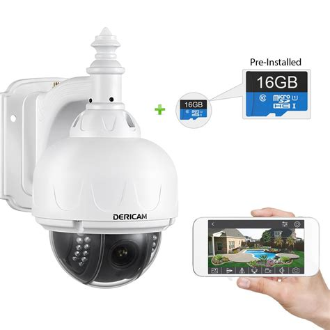 ip zoom dericam outdoor wifi wireless ip security ptz