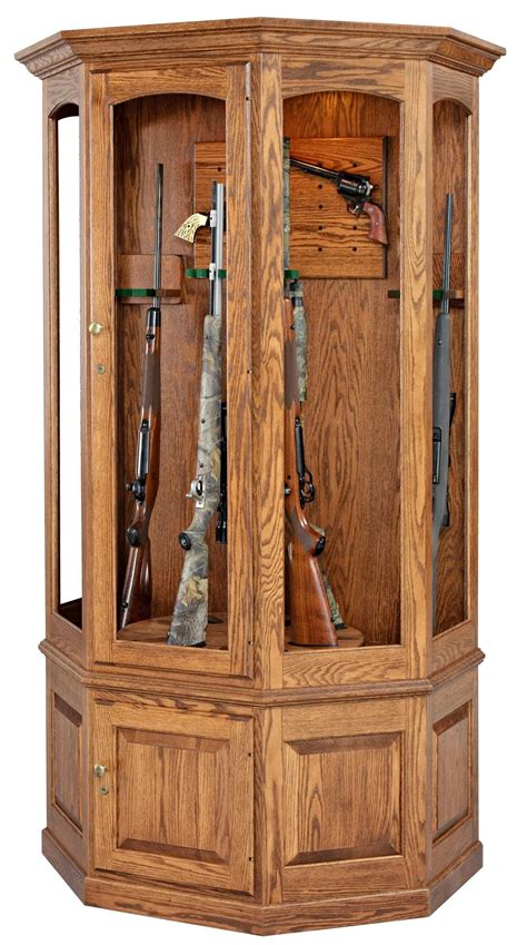 Gun Cabinet by Amish Gun Cabinets Oak Cherry Maple Gun Cabinets
