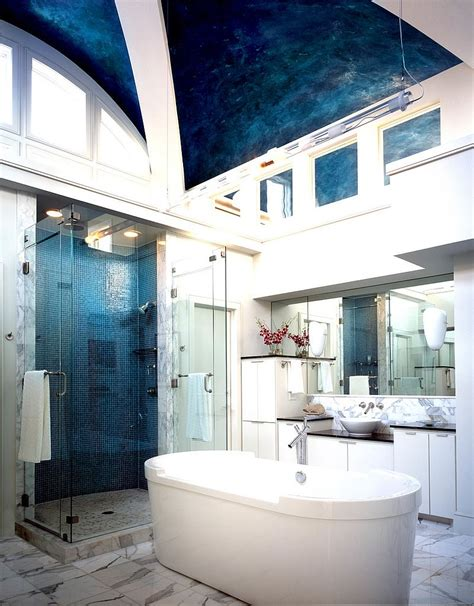 bathroom ceiling design ideas 15 eclectic bathrooms with a splash of delightful blue