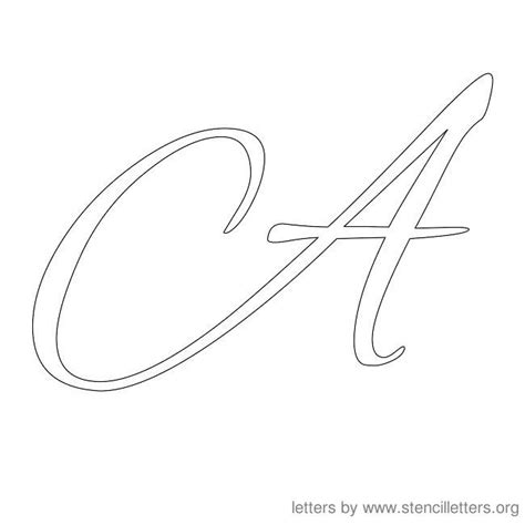 printable big cursive letters letter stencils cursive stencil letter a stencils
