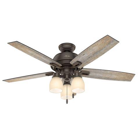 52 inch ceiling fan with light 53336 donegan 52 inch 3 led light ceiling fan in