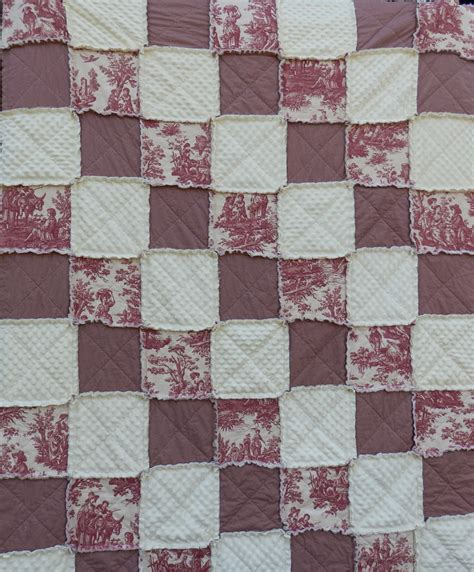 Toile Quilt Toile Rag Quilt In Size Toile Quilt Country