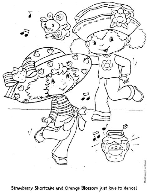 strawberry shortcake coloring pages for kids coloring home