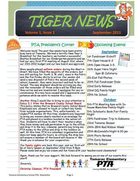 tiger news st  tamarac elementary pta tiger news
